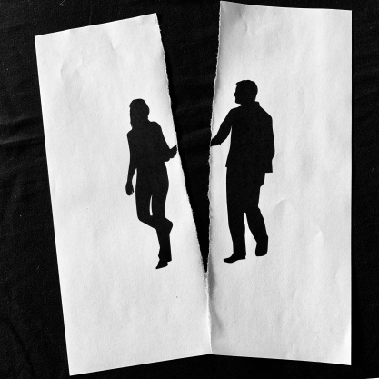 Man Woman Ripped Silhouette